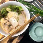 mummy trinh's easy laksa recipe using maggi laksa paste and the three sisters rice vermicelli